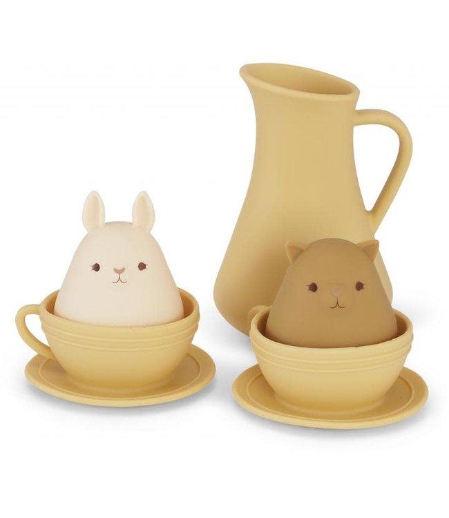 Silicone bath toys cup set - limonade