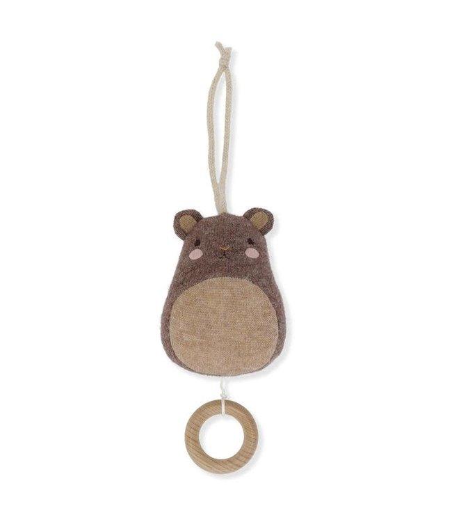 Konges Sløjd Music toys cutie bear - mocca