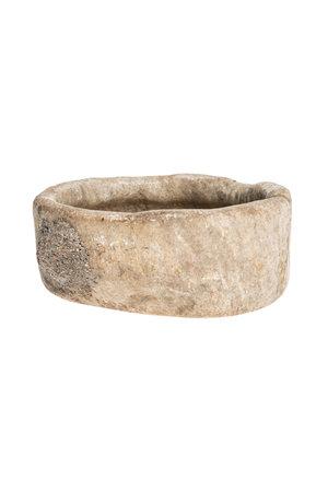 Round rough marble bowl