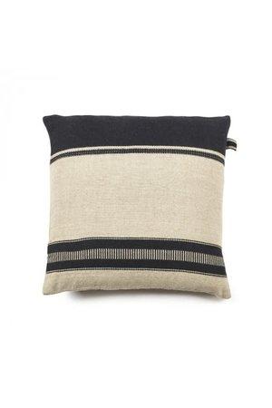 Libeco Marshall deco cushion - multi stripe