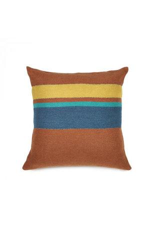 Libeco Redwood deco cushion - stripe