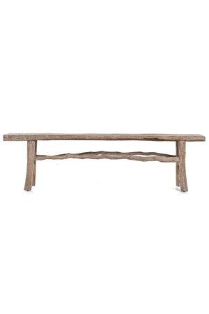 Bench weathered elm wood  - 189cm