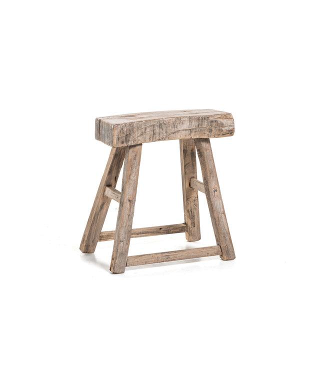 Old stool weathered elm wood  #57