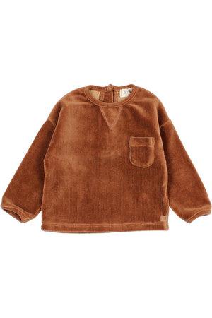 Buho Baby velvet sweatshirt - muscade