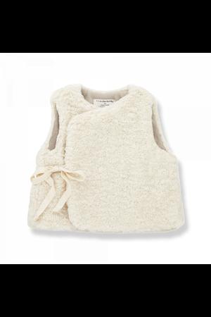 1+inthefamily Claire newborn furry sweater - ecru