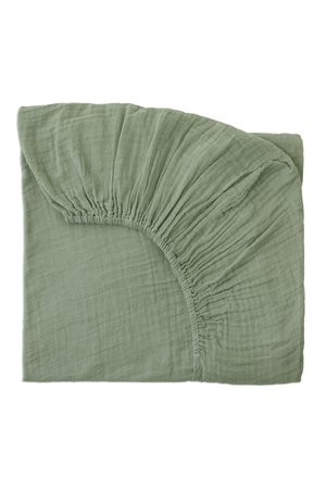 Numero 74 Fitted bed sheet - sage green