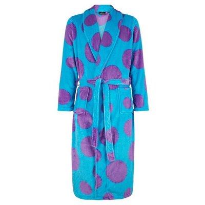 Badrock badjas dames Dots met sjaalkraag