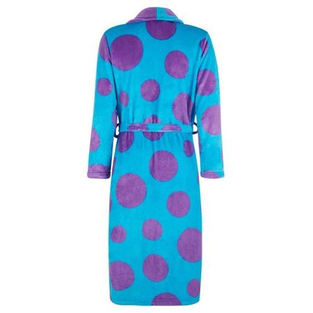 Badrock badjas dames Dots fleece met sjaalkraag