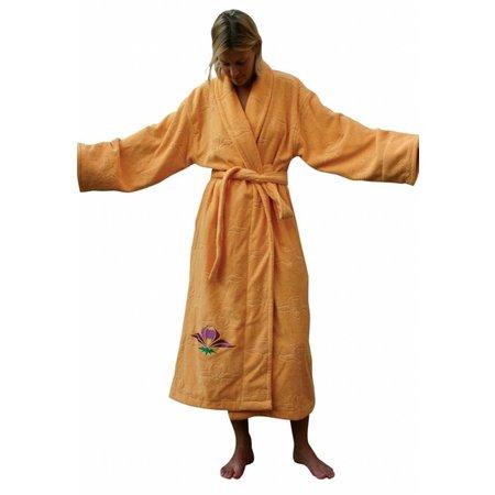 Funky Badjas damesbadjas katoen Lotusbloem met sjaalkraag