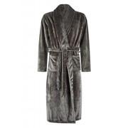 badjas unisex antraciet met sjaalkraag - fleece