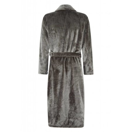 Badrock badjas badjas unisex antraciet fleece met sjaalkraag - fleece