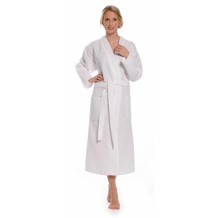 Badrock badjas unisex wit katoen kimono