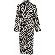 badjas dames Zebra met sjaalkraag