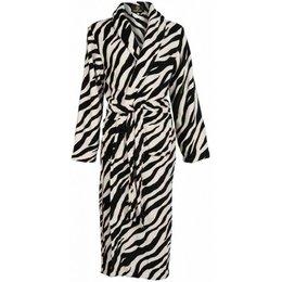 Badrock badjas badjas dames Zebra met sjaalkraag