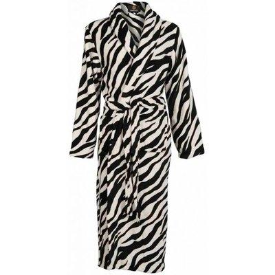 Badrock badjas dames Zebra met sjaalkraag
