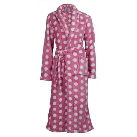 Badrock badjas dames Stippen fleece met sjaalkraag