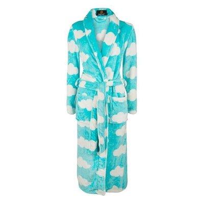 Badrock badjas dames Wolken met sjaalkraag