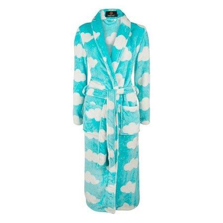 Badrock badjas dames Wolken fleece met sjaalkraag