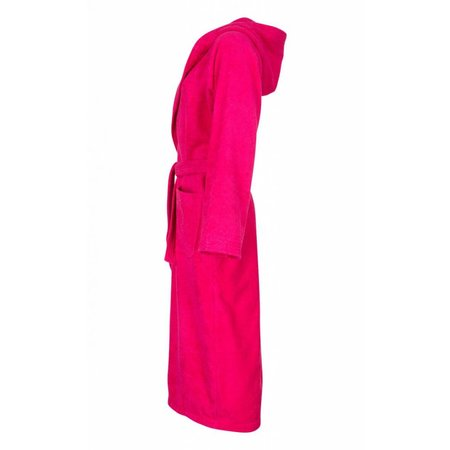 Badrock badjas badjas dames fuchsia katoen met capuchon