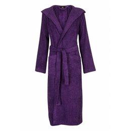 Badrock badjas dames paars met capuchon