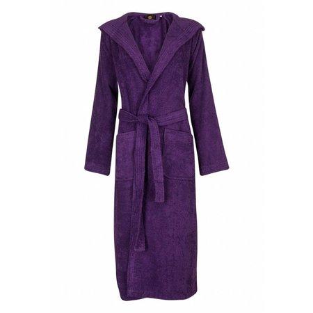 Badrock badjas badjas dames paars katoen met capuchon