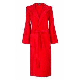 badjas unisex rood met capuchon