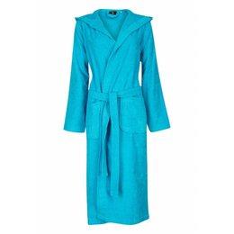 Badrock badjas unisex aquablauw met capuchon