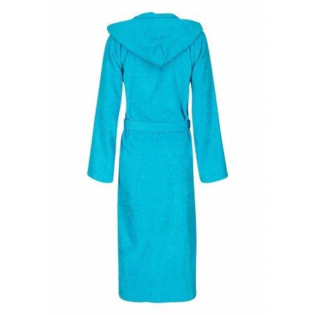 Badrock badjas badjas unisex aquablauw katoen met capuchon