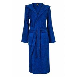 Badrock badjas badjas unisex kobaltblauw met capuchon