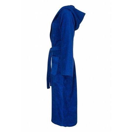 Badrock badjas unisex kobaltblauw katoen met capuchon