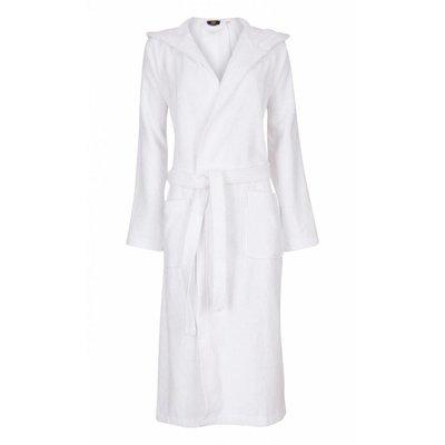 Badrock badjas badjas unisex wit met capuchon