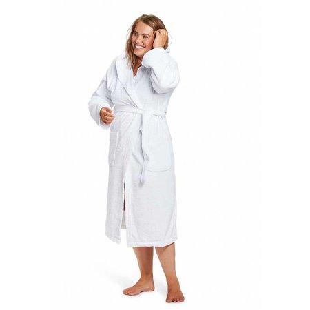 Badrock badjas unisex wit katoen met capuchon