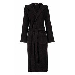 badjas unisex zwart met capuchon
