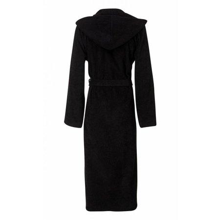 badjas unisex zwart katoen met capuchon