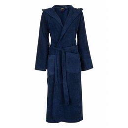 Badrock badjas badjas unisex marineblauw met capuchon