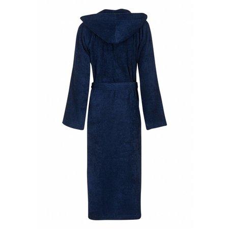 Badrock badjas unisex marineblauw katoen met capuchon