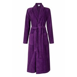 Badrock badjas badjas dames paars met sjaalkraag