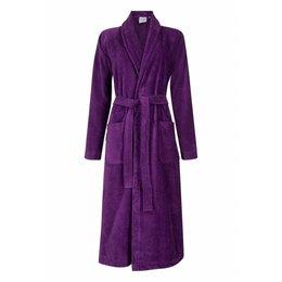 Badrock badjas dames paars met sjaalkraag