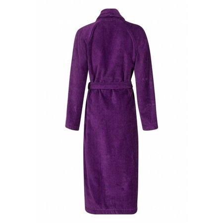 Badrock badjas badjas dames paars katoen met sjaalkraag