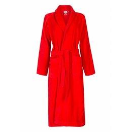badjas unisex rood met sjaalkraag