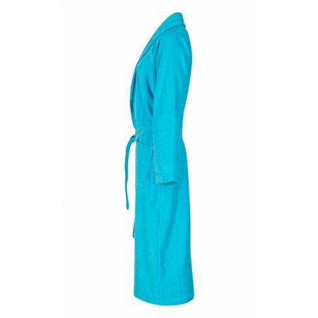 Badrock badjas unisex aquablauw katoen met sjaalkraag