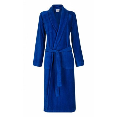 Badrock badjas unisex kobaltblauw met sjaalkraag