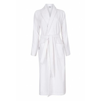 Badrock badjas badjas unisex wit met sjaalkraag