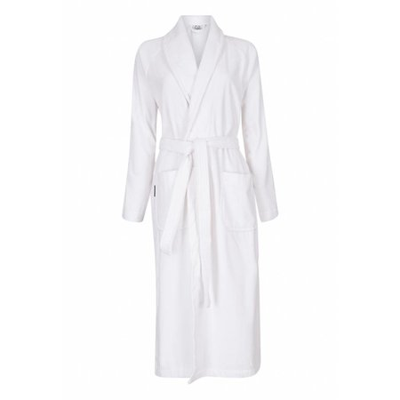 Badrock badjas badjas unisex wit katoen met sjaalkraag