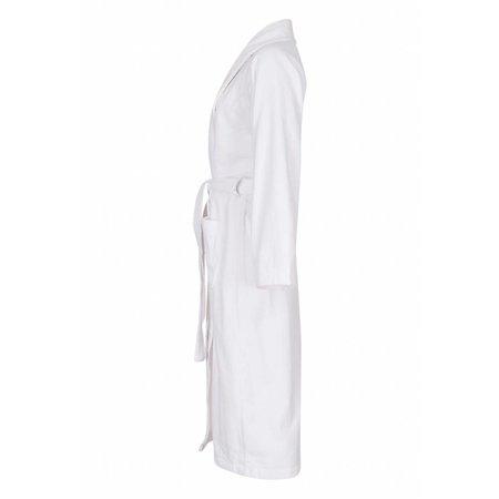 badjas unisex wit katoen met sjaalkraag