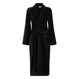 badjas unisex zwart met sjaalkraag