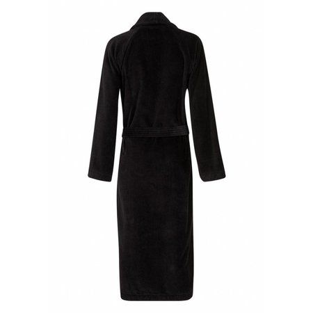 Badrock badjas badjas unisex zwart katoen met sjaalkraag