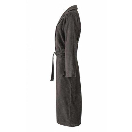 Badrock badjas unisex antraciet katoen met sjaalkraag