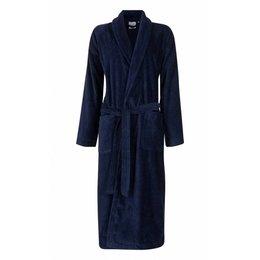 Badrock badjas unisex marineblauw met sjaalkraag