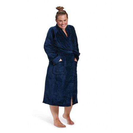 Badrock badjas badjas unisex marineblauw katoen met sjaalkraag